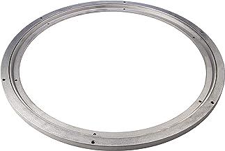 Gedotec Zwaarlast-draaischijf 360° draaibaar Ø 450 mm | Draaitafel staal zilver | Drukkkogellager draagvermogen 350 kg | D...
