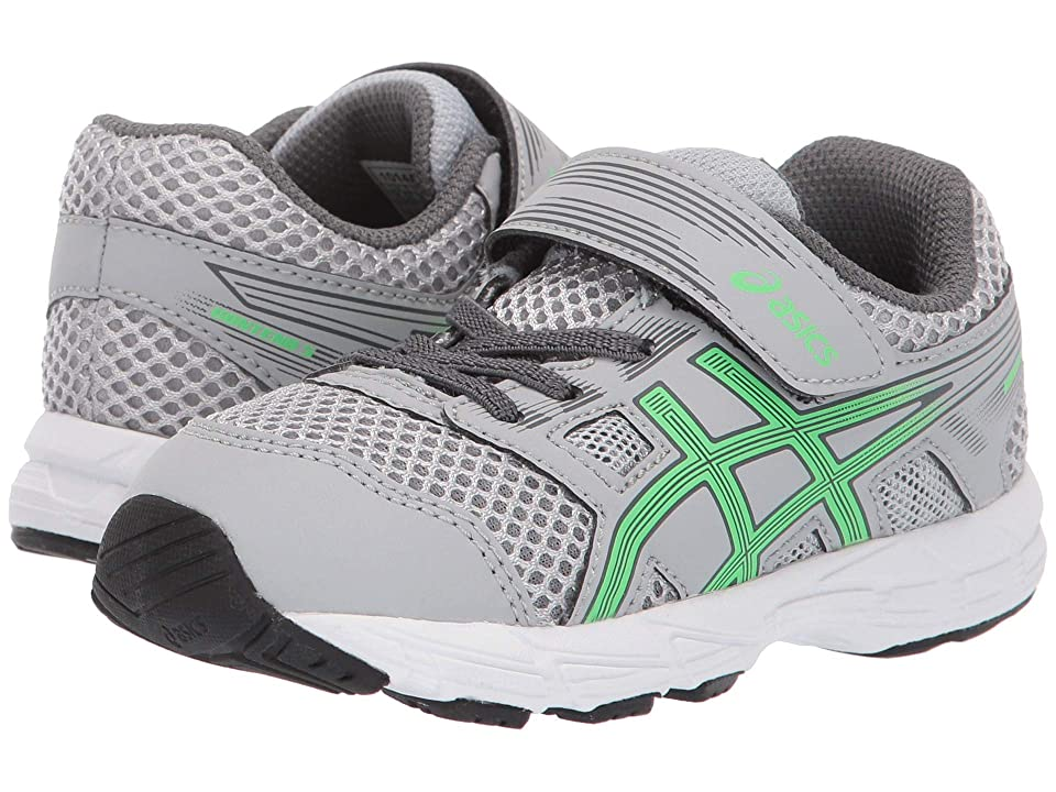 ASICS Kids Gel-Contend TS (Toddler) (Mid Grey/New Leaf) Boys Shoes