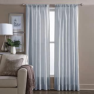 Wamsutta Sheer 84 Inch Window Curtain Panel in Blue