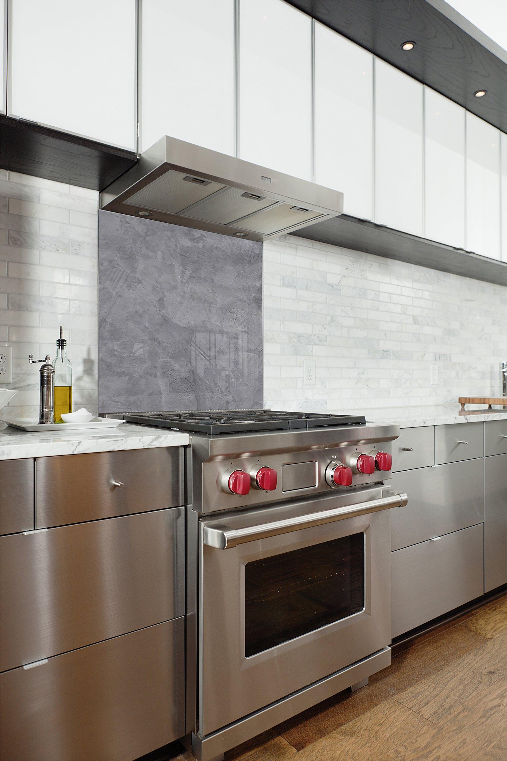 Fondo de campana en panel compuesto aluminio para cocina listo para mesa con adhesiva
