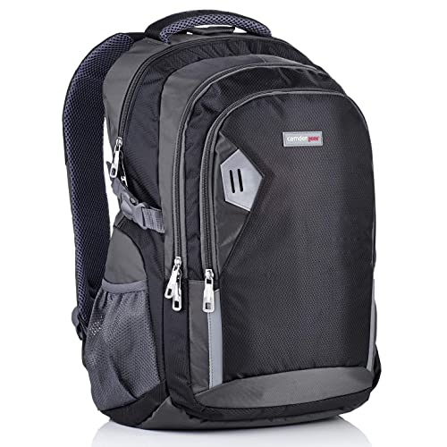 Rucksack schwarz grau groß günstig Laptopfach gepolstert für Büro Schule Uni