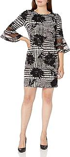 فستان حريمي من Sandra Darren مقاس 3/4 كم مطبوع عليه Scuba Crepe