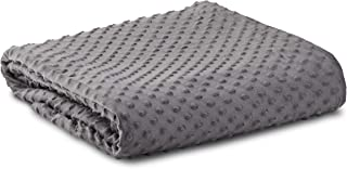 Leniio Weighted Blanket Cover - Removable Minky Duvet Cover for Weighted Blanket - (60