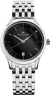 Maurice Lacroix - Reloj de cuarzo Maurice Lacroix Les Classiques, Negro, 38mm, LC1237-SS002-330-1