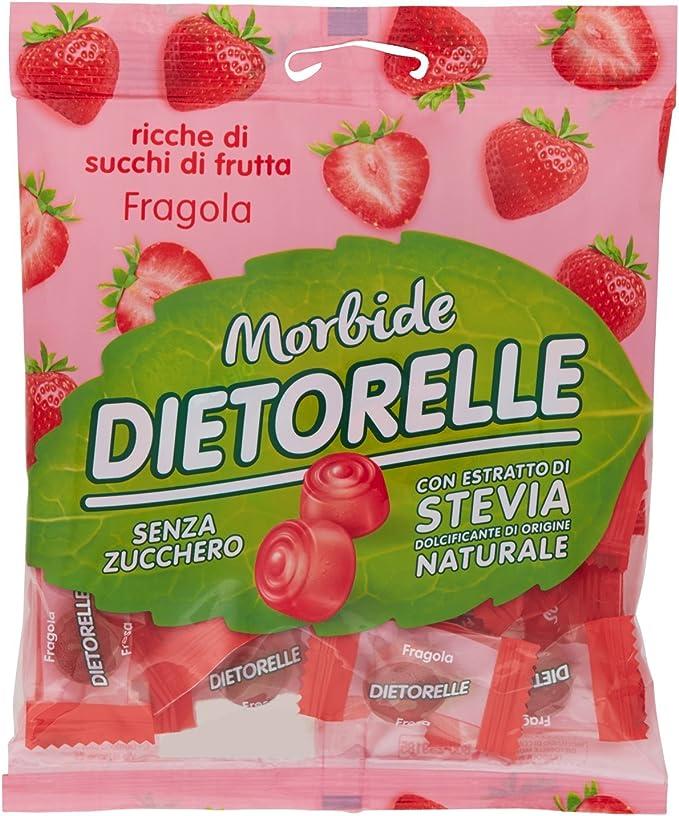167 opinioni per Dietorelle- Caramelle Morbide Vegan Fragola, Caramelline Morbide, Senza