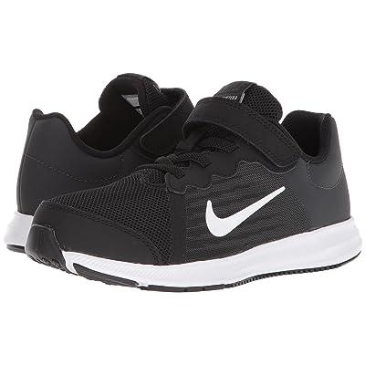 Nike Kids Downshifter 8 (Little Kid) (Black/White/Anthracite) Boys Shoes