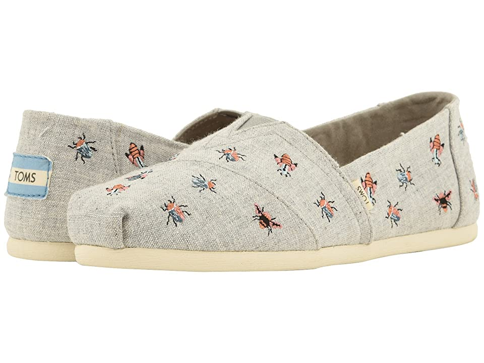 TOMS Alpargata (Drizzle Grey Chambray/Embroidery (Vegan)) Women