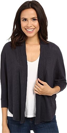 Linen Nylon Knit Dolman Sleeve Cardigan