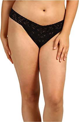 2bd36d3c0797 Hanky Panky. Plus Size Organic Cotton Signature Lace French Brief. $37.00. Plus  Size Signature Lace Original Rise Thong