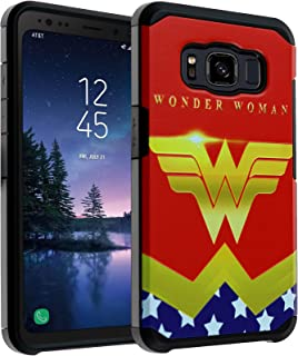 Galaxy S8 Active Case DC Comic Wonder Woman, DURARMOR Dual Layer Hybrid ShockProof Ultra Slim Fit Armor Air Cushion Defender Protector Cover for Galaxy S8 Active - Wonder Woman Red
