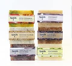 SpaLife Hand Made Soap Set - Handmade - 6 Pack - 3.5oz Each (Natural)
