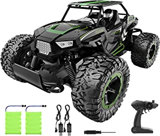 BEZGAR 18 Toy Grade 1:14 Scale Remote Control Car, 2WD High Speed 20 Km/h All Terrains Electric Toy Off Road RC Monster Ve...