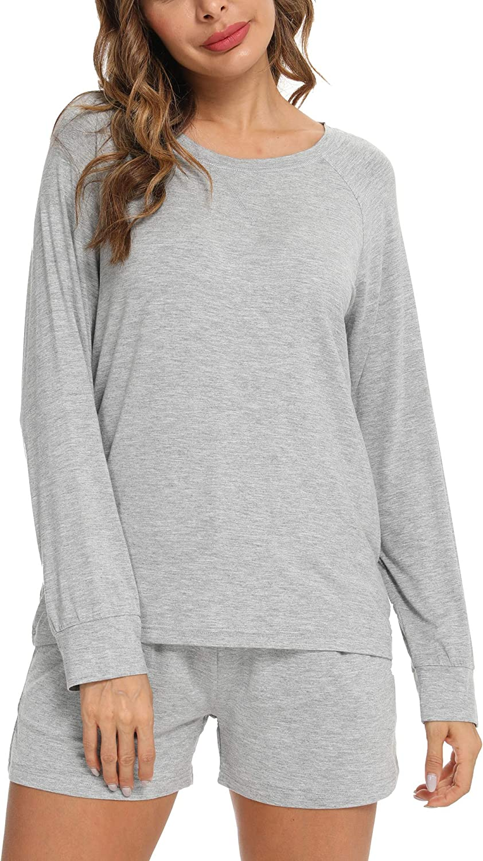 Hefunige Womens Pajamas Set Leopard Long Pjs Sleepwear Our shop most Super beauty product restock quality top! popular Sleev