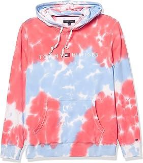 Men's Tie Dye Hoodie Sweatshirt, RED Alert/NEBULAS...