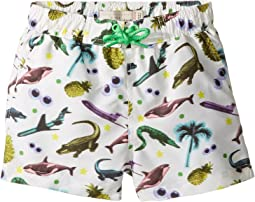 Stella McCartney Kids - Taylor Swim Sticker Print Swim Shorts (Infant/Toddler)