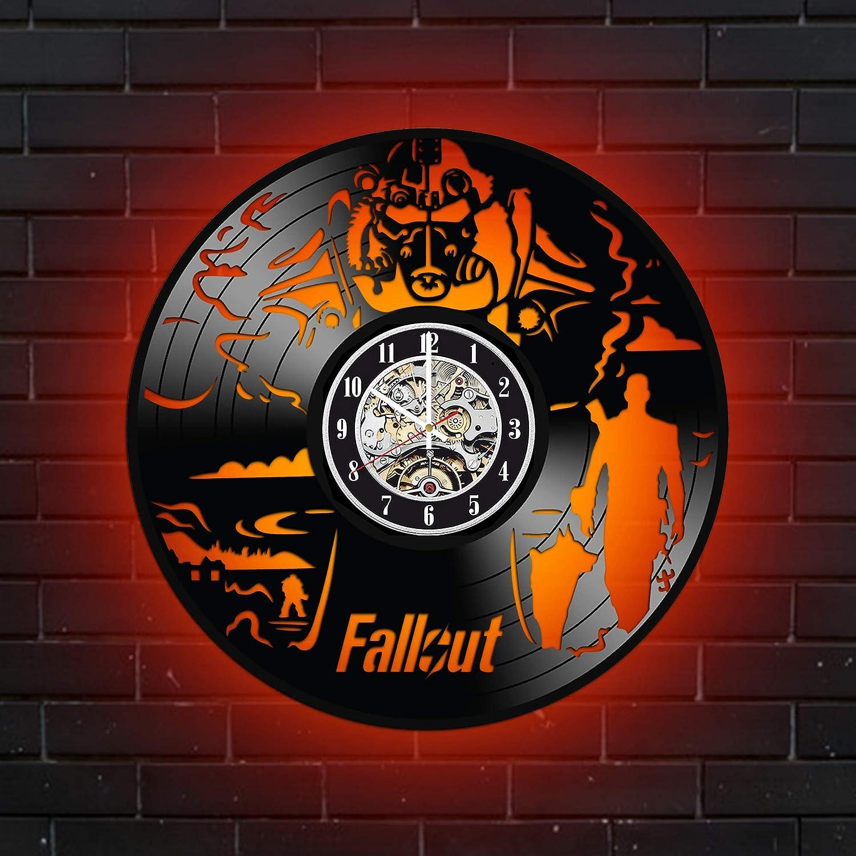 店舗 Levescale Fallout Lighted Vinyl Wall 10%OFF - Decorati for Gamers Clock