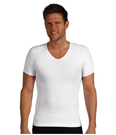 Spanx for Men Zoned Performance Compression V-Neck (White) Men