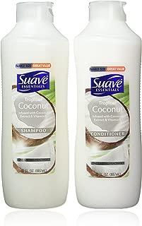 Suave Essentials Shampoo & Conditioner Set, Tropical Coconut, 30 Ounce Each