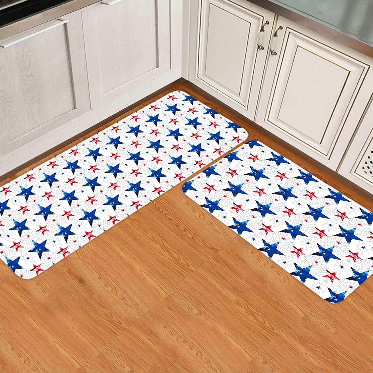 2 Pieces Kitchen Rug Set Non-Slip Doormat Discount mail order OFFicial mail order Rugs Throw Mat Backing