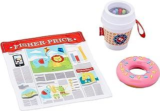 Fisher-Price On-The-Go Juego de regalo para desayuno, 3 juguetes sensoriales para bebés a partir de 3 meses