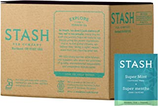 Stash Tea Super Mint Herbal Tea 100 Count Box of Tea Bags in Foil