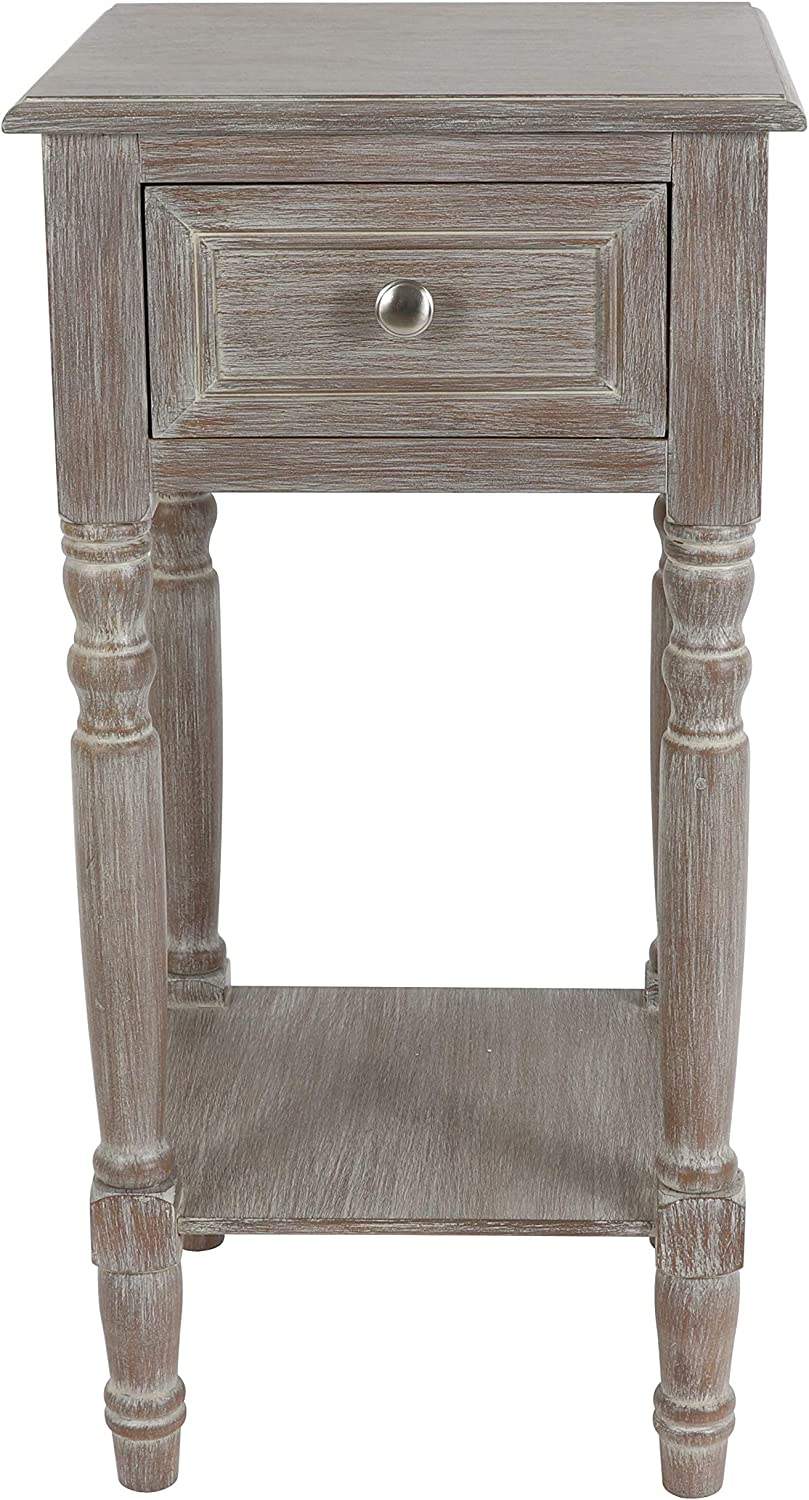Decor Therapy Simplify Genuine Free Courier shipping free shipping Shipping One Drawer Accent Wood table Natural