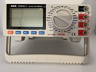 Victor 8045 High Precision Bench-Type DMM Digital Multimeter 10 MO 40~50kHz DC AC Voltage, DC AC Current, Resistance, Capacitance, Hz, hFE, Diodes, Continuity