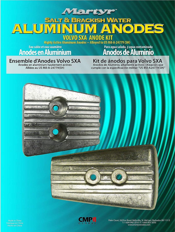 Aluminium Getriebe Anode 00157A Volvo Penta 3883728 DPS-A  SX-A Gearhouse Anodes