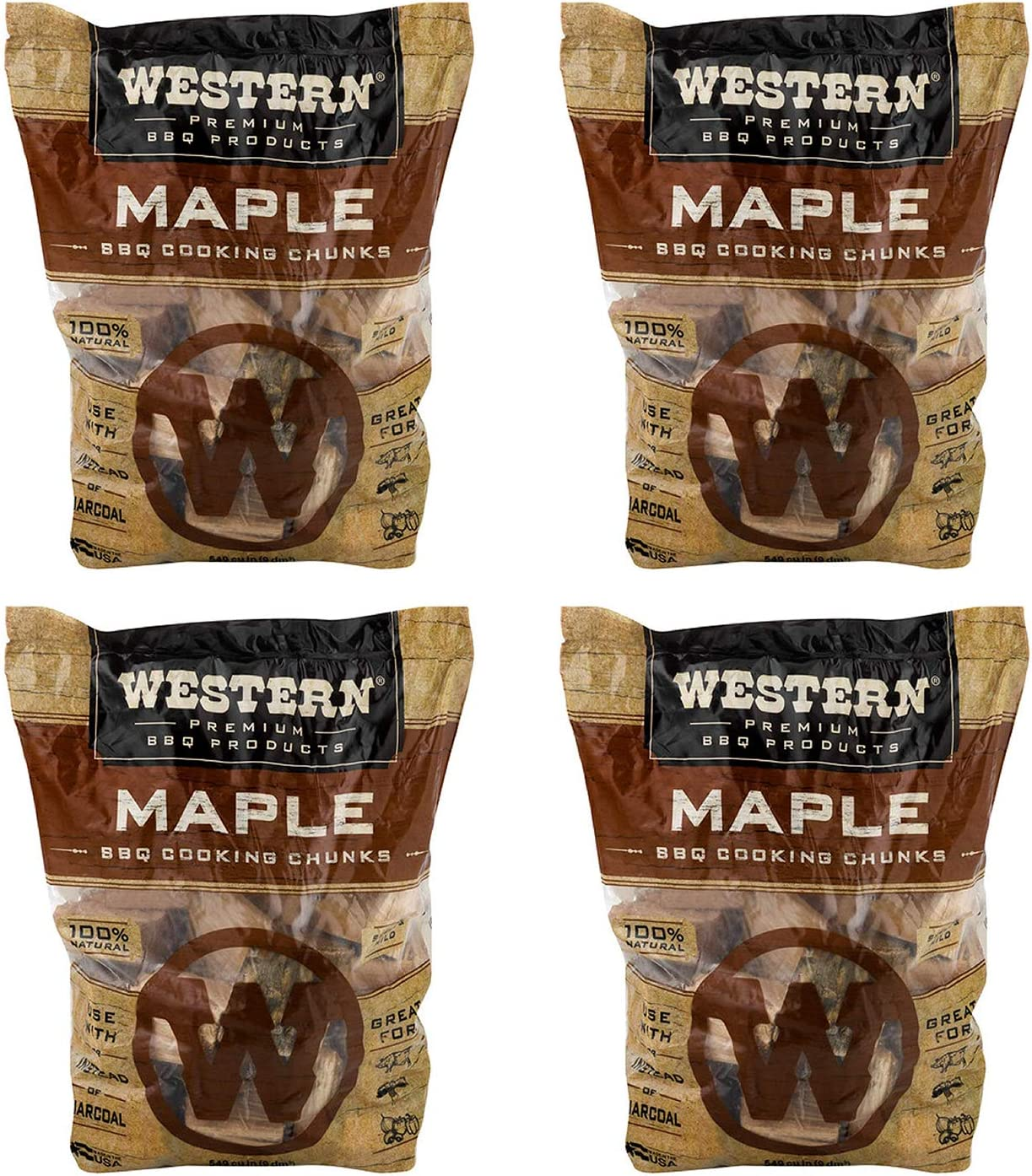 Western Milwaukee Mall BBQ Maple Barbecue Flavor Cooking Grilli for Chunks Wood Large special price