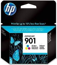 HP CC656AE 901 Cartucho de Tinta Original, 1 unidad, tricolor (cian, magenta, amarillo)