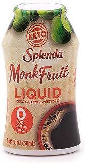 SPLENDA MONK FRUIT LIQUID, Zero Calorie Sweetener Drops, 1.68 Fl Oz (Pack of 1)