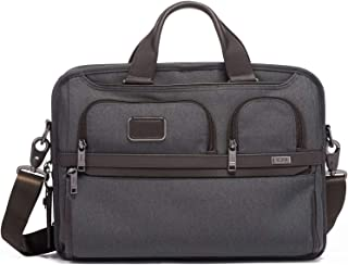 TUMI - Alpha 3 T-Pass Medium Screen Laptop Slim Brief Briefcase - 14 Inch Computer Bag for Men and Women - Anthracite