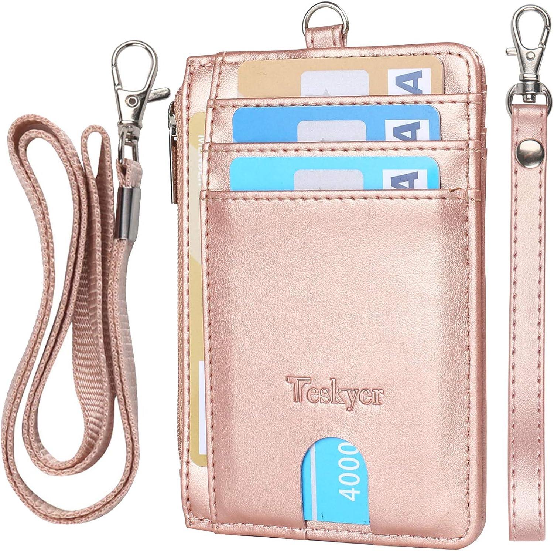 Teskyer Minimalist Wallet, Slim Wallet for Men Women, Credit Card Holder Wallet, RFID Blocking Front Pocket Wallet