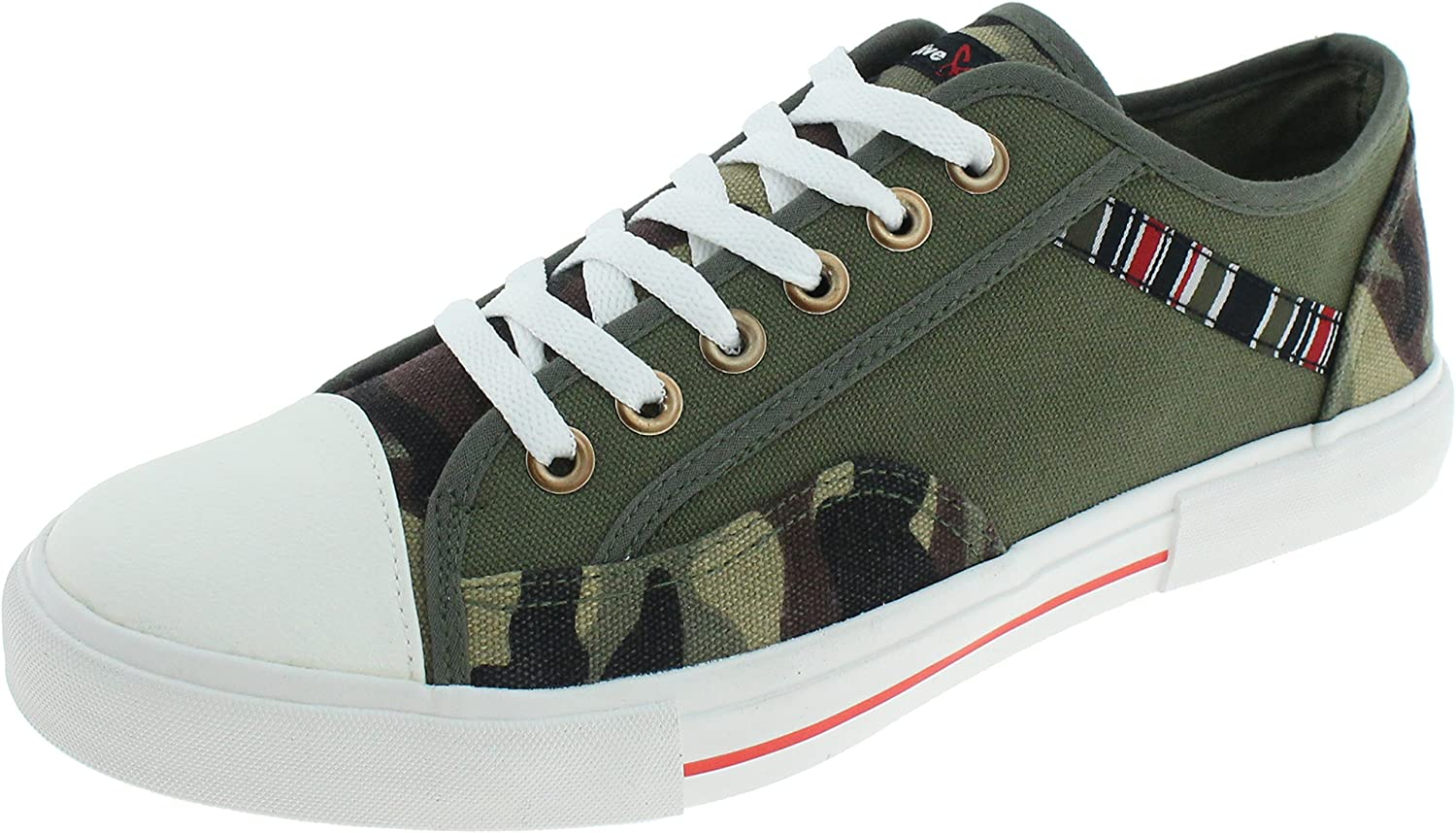 Triple Five Soul Men's Brooklyn Low Top Sneakers Olive 9
