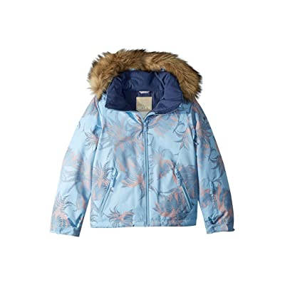 Roxy Kids American Pie Jacket (Big Kids) (Powder Blue/Swell Flowers) Girl