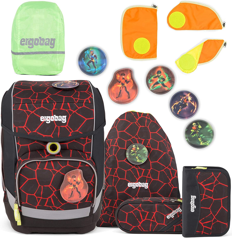 Ergobag Cubo SupBärheld Schulranzen-Set 5tlg.  Sicherheitsset Orange  Regencape Grün B07JMSH8LR | Sehr gute Qualität