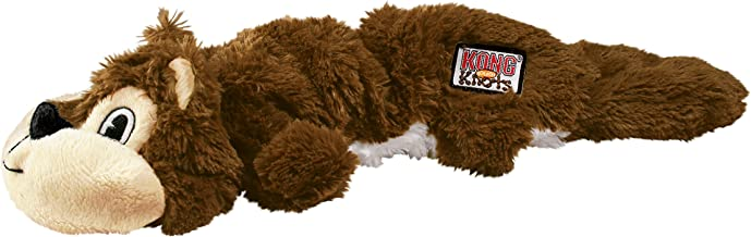 KONG - Scrunch Knots Squirrel - Internal Knotted Ropes and Minimal Stuffing for Less Mess - For Small/Medium Dogs