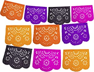 Fiesta Brands Mexican Papel Picado Banner.Day of The Dead Colors. Dia de Los