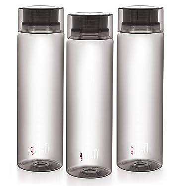 Cello H2O Unbreakable Bottle , 1 Litre, Set of 3, Black