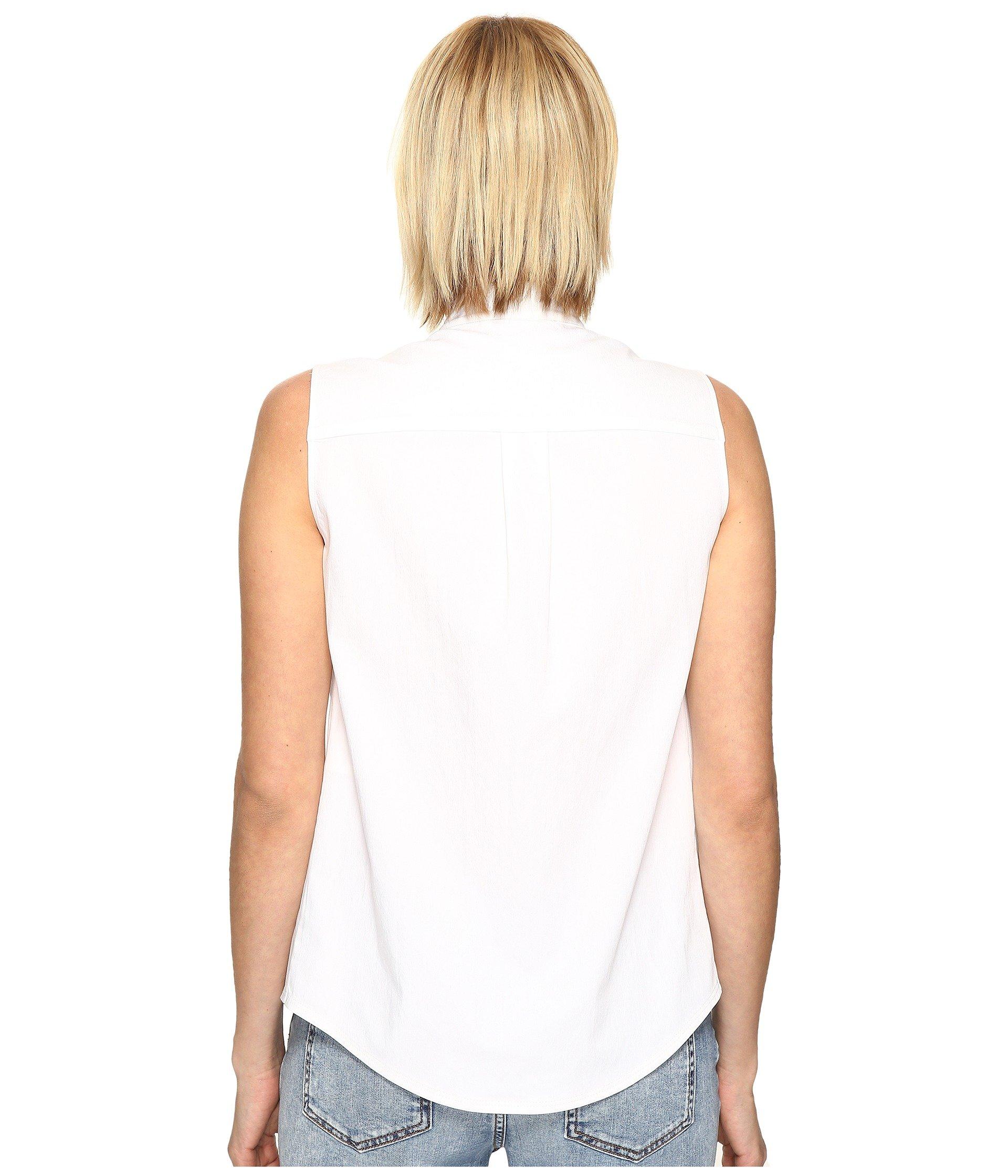 971d4b51cc18a1 Love Moschino Sleeveless Ruffle Top In White