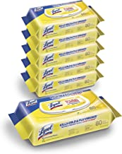 Lysol Disinfectant Handi-Pack Wipes, Multi-Surface Antibacterial Cleaning Wipes, for Disinfecting and Cleaning, Lemon and Lime Blossom, 480 Count (Pack of 6)