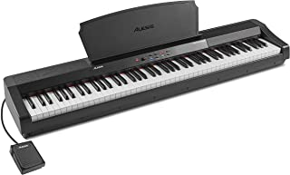 Alesis Recital Grand – 88 Key Digital Piano with Full Size Graded Hammer Action Weighted Keys, 16 Keyboard Piano Sounds an...