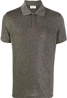 Luxury Fashion | Saint Laurent Men 597023YBOD21314 Silver Polyamide Polo Shirt | Spring-summer 20