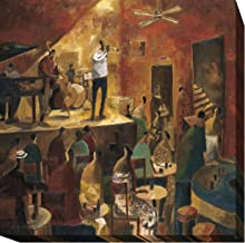 Red Jazz by Didier Lourenco Premium Gallery-Wrapped Canvas Giclee Art (24 in x 24 in, Ready-to-Hang)