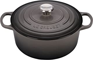 Le Creuset LS2501-307FSS Signature Enameled Cast-Iron Round French (Dutch) Oven, 9-Quart, Oyster