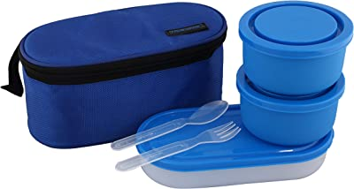 Kuber Industries Microsafe Stainless Steel Lunch Box, Blue (CTKTC3594)
