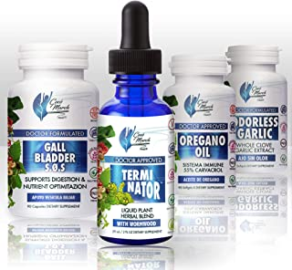 Terminator Kit Dr Coco March with Wormwood Quita Gusanos - Liquid Plant Herbal Blend 59 ml (2 fl oz) Dietary Supplement