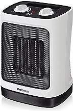 Pro Breeze™ Mini Radiateur soufflant Céramique 2000 W - Chauffage d'appoint à Oscillation Automatique et 2 Réglages de Température - Blanc