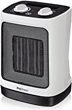 Pro Breeze® 2000W Mini Ceramic Fan Heater - Automatic Oscillation and 2 Heat Settings, White
