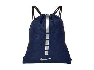 Nike Hoops Elite Gymsack 2.0 (Midnight Navy/Black/Metallic Cool Grey) Backpack Bags